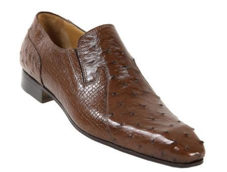 MensUSA Mauri Tabac Genuine Ostrich Perforated Kangaroo Shoes at Sears.com