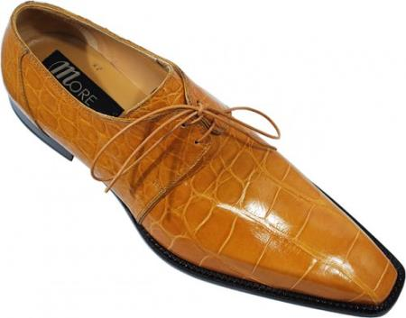 MensUSA Mauri Mustard Genuine All Over Alligator Belly Skin Shoes at Sears.com
