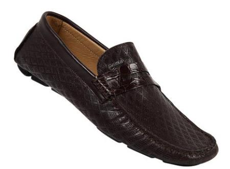 MensUSA Mauri Sport Rust Genuine Crocodile Flanks Perforated Nappa Leather Shoes at Sears.com