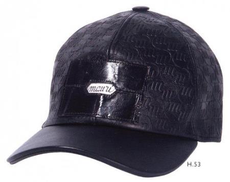 MensUSA Mauri H53 Black Genuine Baby Crocodile Embossed Nappa Leather Hat at Sears.com