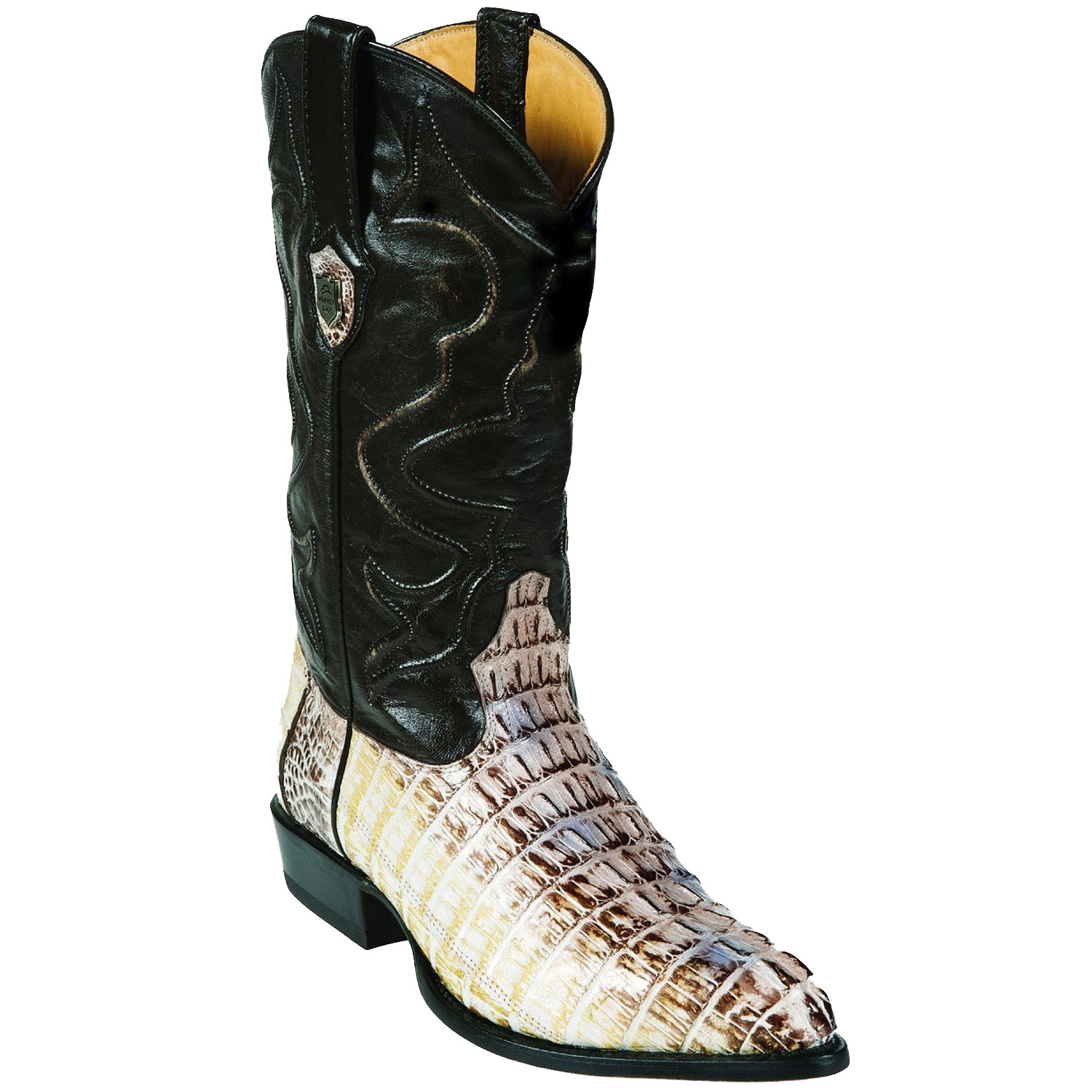 MensUSA.com Wild West J Toe Natural Caiman Tail Cowboy Boots(Exchange only policy) at Sears.com