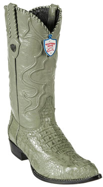 MensUSA.com Wild West Military Green J Toe Caiman Hornback Cowboy Boots(Exchange only policy) at Sears.com