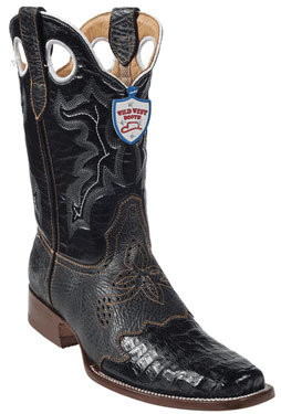 MensUSA.com Wild West Black Caimen Belly Wild Rodeo Toe Boots(Exchange only policy) at Sears.com