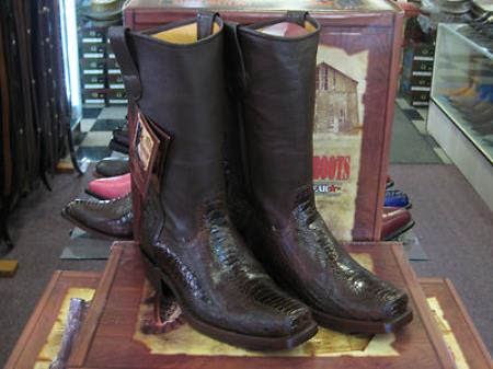 MensUSA.com Los Altos Brown Ostrich Leg Western Cowboy Biker Motorcycle Boot(Exchange only policy) at Sears.com
