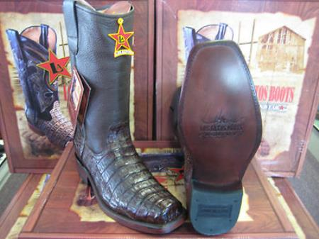 MensUSA.com Los Altos Brown Caiman Belly Western Cowboy Biker Motorcycle Boot(Exchange only policy) at Sears.com