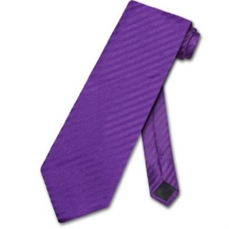 SKU#VK8450 Purple Striped Vertical Stripes Design Mens Neck Tie