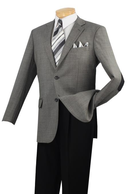 MensUSA.com Mens 100 Luxurious Wool Sport Coat Elbow Patch Black(Exchange only policy) at Sears.com