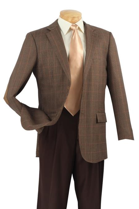 MensUSA.com Mens 100 Luxurious Wool Sport Coat Elbow Patch Taupe(Exchange only policy) at Sears.com