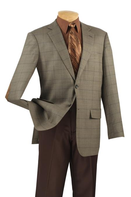 MensUSA.com Mens 100 Luxurious Wool Sport Coat Elbow Patch Burnt Olive(Exchange only policy) at Sears.com