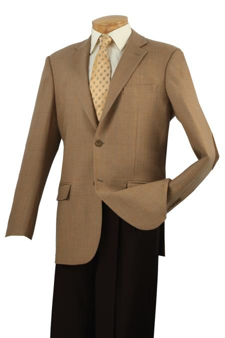 MensUSA.com Mens 100 Luxurious Wool Sport Coat Elbow Patch Latte(Exchange only policy) at Sears.com