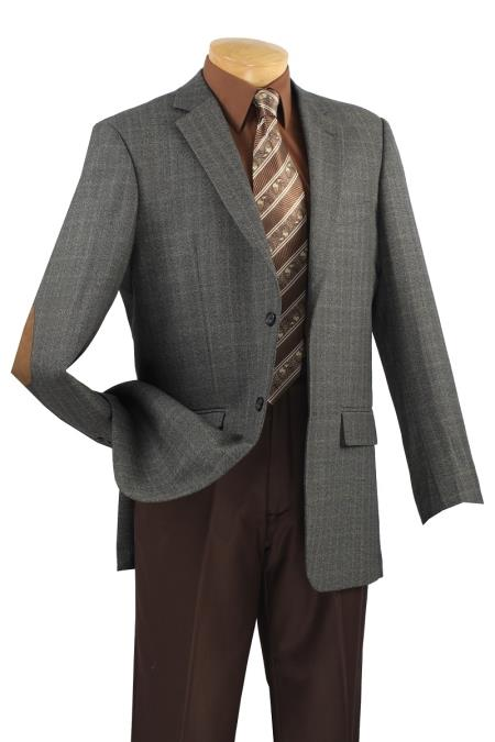 MensUSA.com Mens 100 Luxurious Wool Sport Coat Elbow Patch Steel(Exchange only policy) at Sears.com