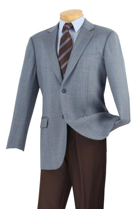 MensUSA.com Mens Wool Sport Coat Dusk Blue Plaid(Exchange only policy) at Sears.com
