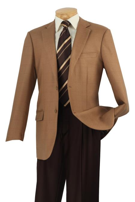 MensUSA.com Mens Wool Sport Coat Camel Plaid(Exchange only policy) at Sears.com