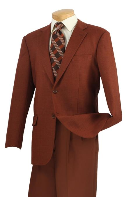 MensUSA.com Mens 100 Wool Tweed Sport Coat Classic Center Vent Brick(Exchange only policy) at Sears.com