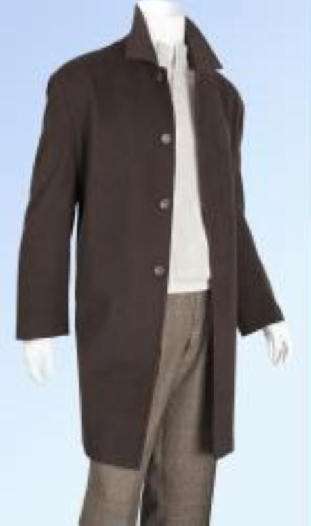 MensUSA.com Mens Wool Cashmere Coat Available in Black Grey Brown and Camel Colors(Exchange only policy) at Sears.com