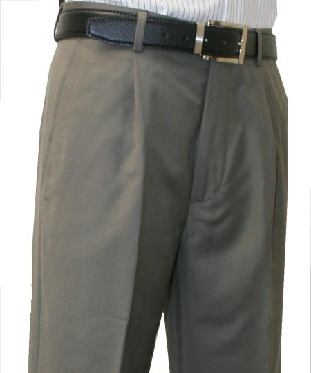 MensUSA.com Roma-Veronesi 1 Pleated Pant 100% Wool 1/4 Top Pocket+2 Back Pockets with Lining Sage(Exchange only policy) at Sears.com