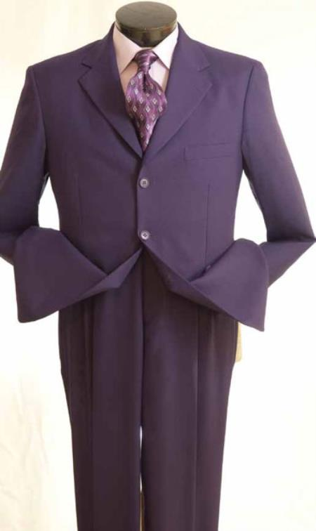 SKU#HX2849  Mens Purple Suit ( blazer and pants ) On sale Discounted today special Only $99