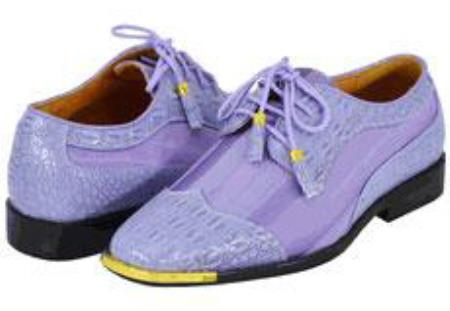 SKU#VR5390 Mens Lavender Light Purple Dress Shoes $125