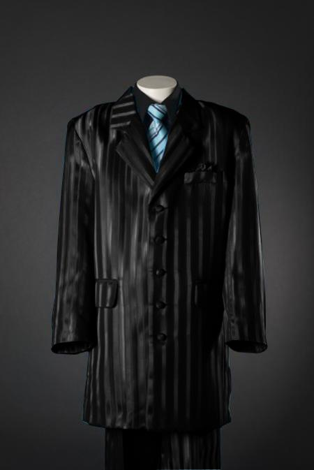 MensUSA.com Black Shadow Stripe 5 Piece Zoot KidsToddlerBoy Suits (Black Shirt)(Exchange only policy) at Sears.com