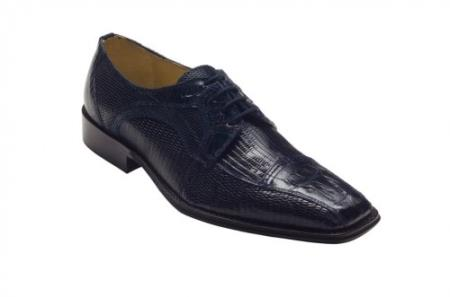 "SKU#GD2746 DAVID-Eden Mens ""Cuomo"" Navy Genuine Crocodile / Lizard Shoes $249"