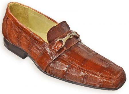 "MensUSA.com DAVID-Eden Mens ""Fredo"" Cognac Genuine All-Over Crocodile Loafer Shoes(Exchange only policy) at Sears.com"