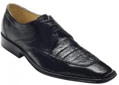 "SKU#DH8093 DAVID-Eden Mens ""Mori"" Black Genuine Crocodile / Lizard Shoes $249"