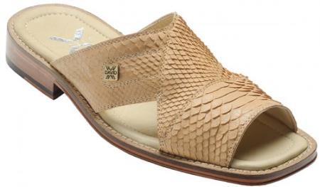 """MensUSA DAVID-Eden Mens """"Ponte"""" Beige All-Over Genuine Python Sandals at Sears.com"""