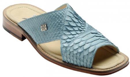 """MensUSA DAVID-Eden Mens """"Ponte"""" Light Blue All-Over Genuine Python Sandals at Sears.com"""