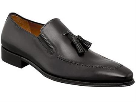 "MensUSA.com Mens ""Davide"" Graphite Hand-Burnished Antiqued Italian Calfskin Leather Shoes(Exchange only policy) at Sears.com"