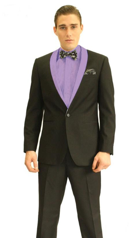 SKU#TS2846 Mens 3inch Purple Shawl Tuxedo $595