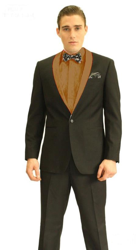 SKU#VR2393 Mens 3inch Brown Shawl Tuxedo $595