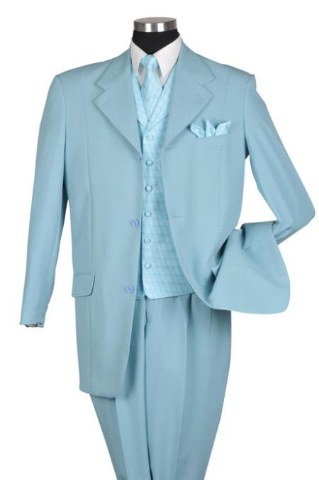MensUSA.com Aqua Fancy Pattern Vested Urban Men Suits(Exchange only policy) at Sears.com
