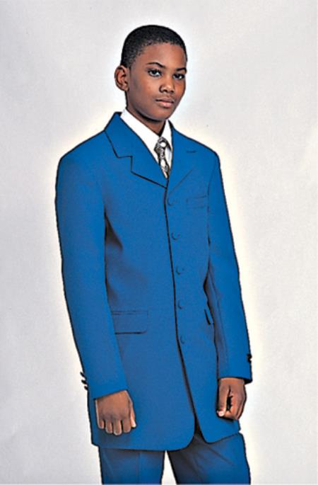 SKU#K-393G Boys Church Suit Available in Mustard, Burgundy ~ Maroon ~ Wine Color, White, Black, Navy, Light Blue ~ Sky $99