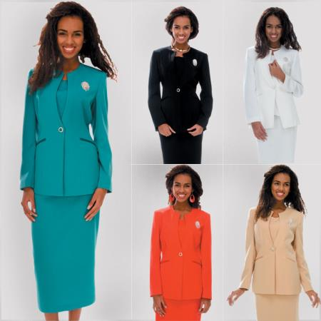 SKU#NT-38 New Lyndas Casual 3 Piece Women Dress Set Office/Church 5 Colors $125