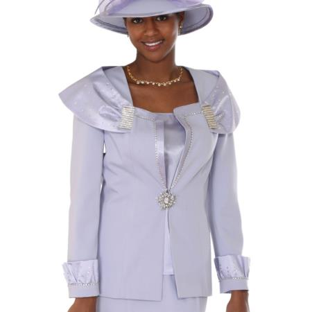 SKU#RP-68 Lady Church Suits New Lyndas Classic Perri Bridal Event Church 3 Piece Dress Set