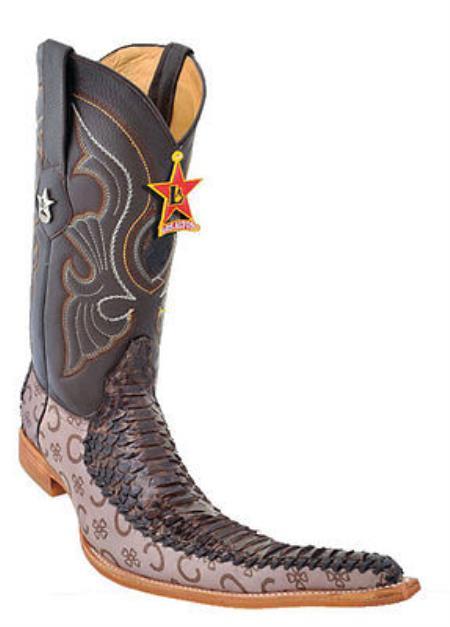 Men Cowboy Boots Los Altos Western Python Leather Vintage Fashion ...