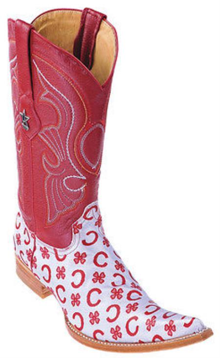 MensUSA.com Fashion Design Leather Red Gray Los Altos Mens Western Boots Cowboy Style 6x Toe(Exchange only policy) at Sears.com