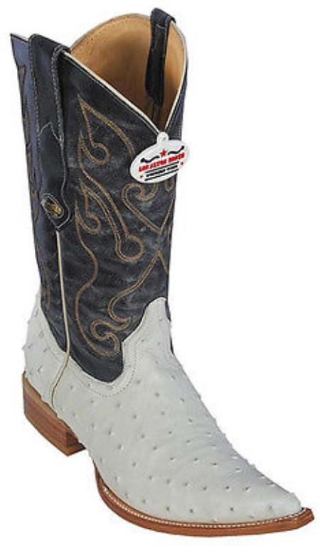 MensUSA.com Ostrich Print Winter White Los Altos Men's Cowboy Boots Western Rider(Exchange only policy) at Sears.com