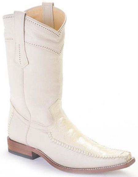 MensUSA.com Ostrich Leg Winter White Los Altos Mens Cowboy Boots Western Fashion Square Toe(Exchange only policy) at Sears.com