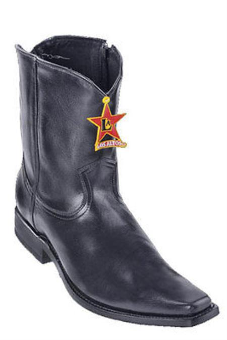 MensUSA.com Men's Los Altos Vergel Square Toe Western Boot Short Top Zipper Leather(Exchange only policy) at Sears.com