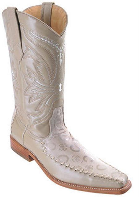 MensUSA.com Deer Winter White Los Altos Mens Western Boots Cowboy Design Square Toe(Exchange only policy) at Sears.com