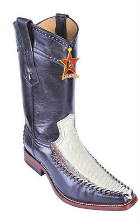 MensUSA.com Ostrich Leg Winter White Los Altos Mens Cowboy Boots Western Wear Rider Vintage(Exchange only policy) at Sears.com