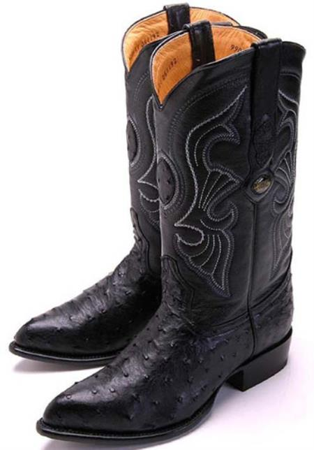MensUSA.com Full Quill Ostrich Black Los Altos Men's Cowboy Boots Western Classics Riding(Exchange only policy) at Sears.com
