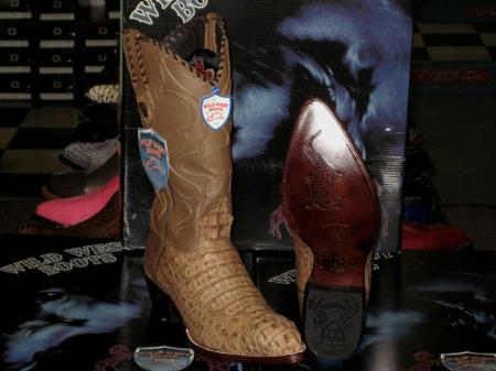 SKU#T03-V Wild West Mink Genuine Crocodile ~ Alligator Western Cowboy Boot (EE) $359