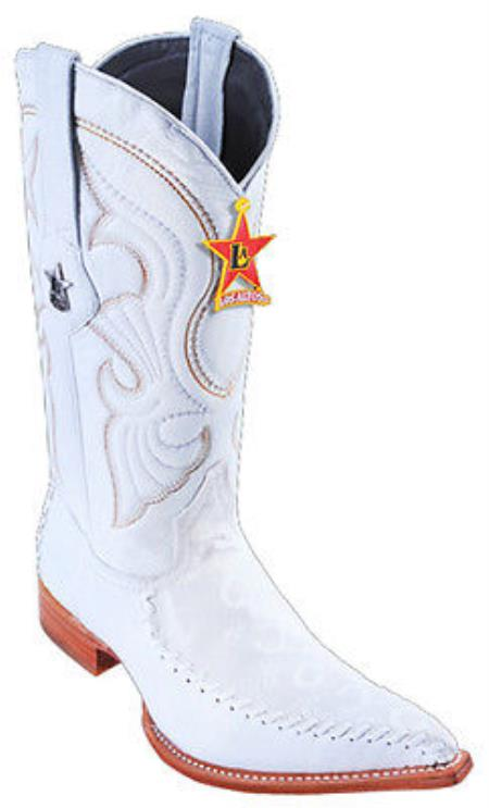 MensUSA.com Fashion Design Leather White Los Altos Mens Western Boots Cowboy Style 3x Toe(Exchange only policy) at Sears.com