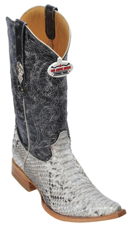 MensUSA.com Python Skin Leather Vintage Beige Los Altos Men Cowboy Boots Western Rider Style(Exchange only policy) at Sears.com