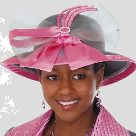 MensUSA New Lynda's Women Pink Bow Kentucky Derby Hat Brim Church Hat at Sears.com