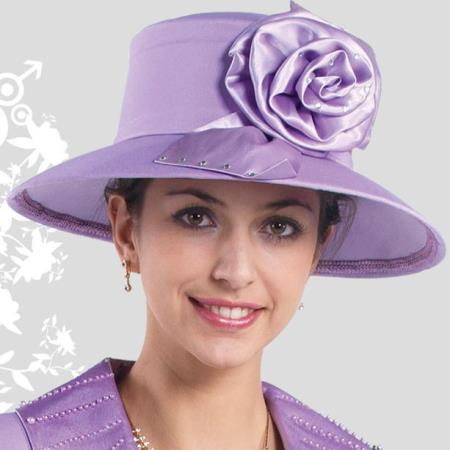 SKU#HA-11 New Lyndas Women Lavender Kentucky Derby Hat Brim Church Hat $65