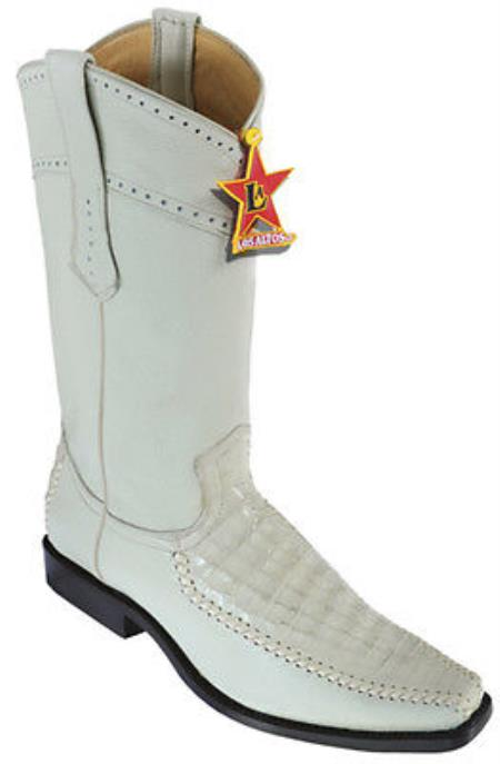 MensUSA.com Caiman Belly Vintage Winter White Los Altos Men's Cowboy Boots Western Rider(Exchange only policy) at Sears.com