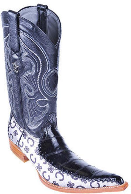 MensUSA.com Eel Classy Black Los Altos Men's Cowboy Boots Western Classics Riding(Exchange only policy) at Sears.com